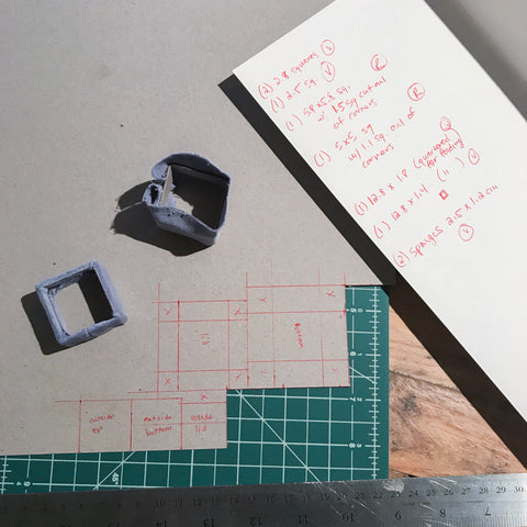 Planning and Cutting to make our Velvet Ring Box