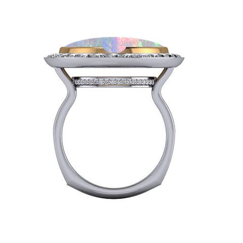 Through Finger View Rendering of Opal Ring