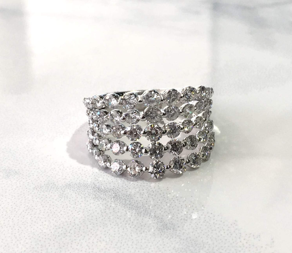 Ladies Wide Multi Diamond Band - Kristoff Jewelers