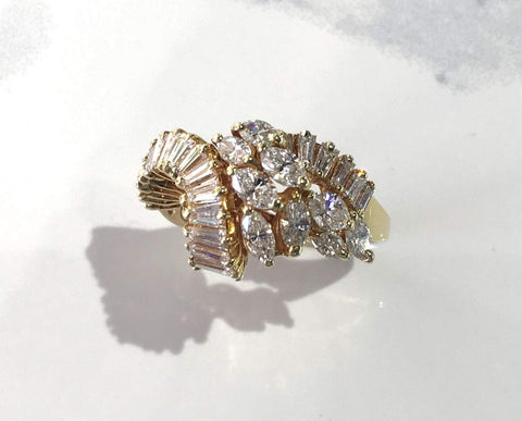 Marquise and Baguette Diamond Ring - Kristoff Jewelers