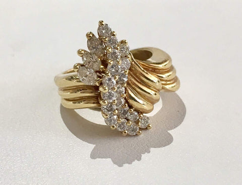 Marquise and Round Diamond Ring - Kristoff Jewelers