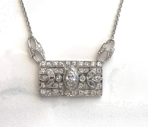 Art Deco Diamond Necklace - Kristoff Jewelers