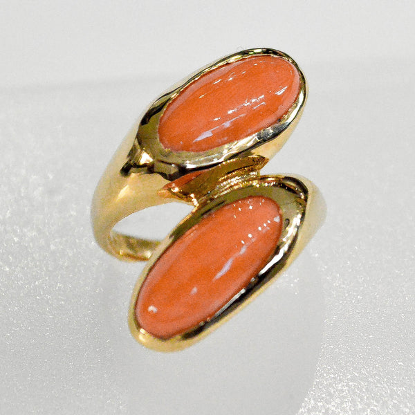 Coral Two-Stone Ring - Kristoff Jewelers