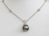 Black Tahitian Pearl and Diamond Necklace - Kristoff Jewelers