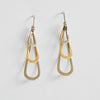 Triple Teardrop Gold Earrings