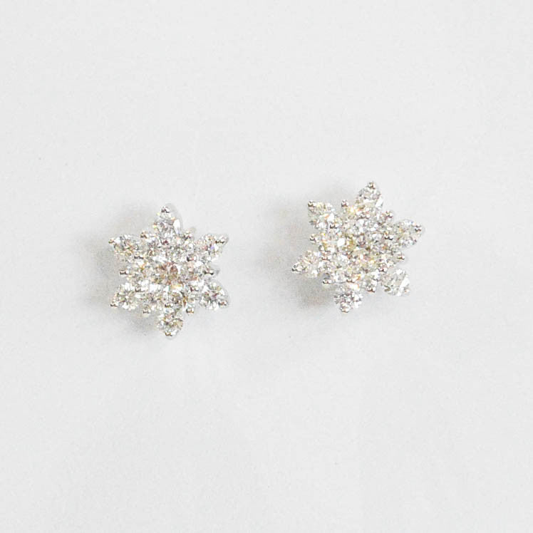 Diamond Cluster Earrings - Kristoff Jewelers
