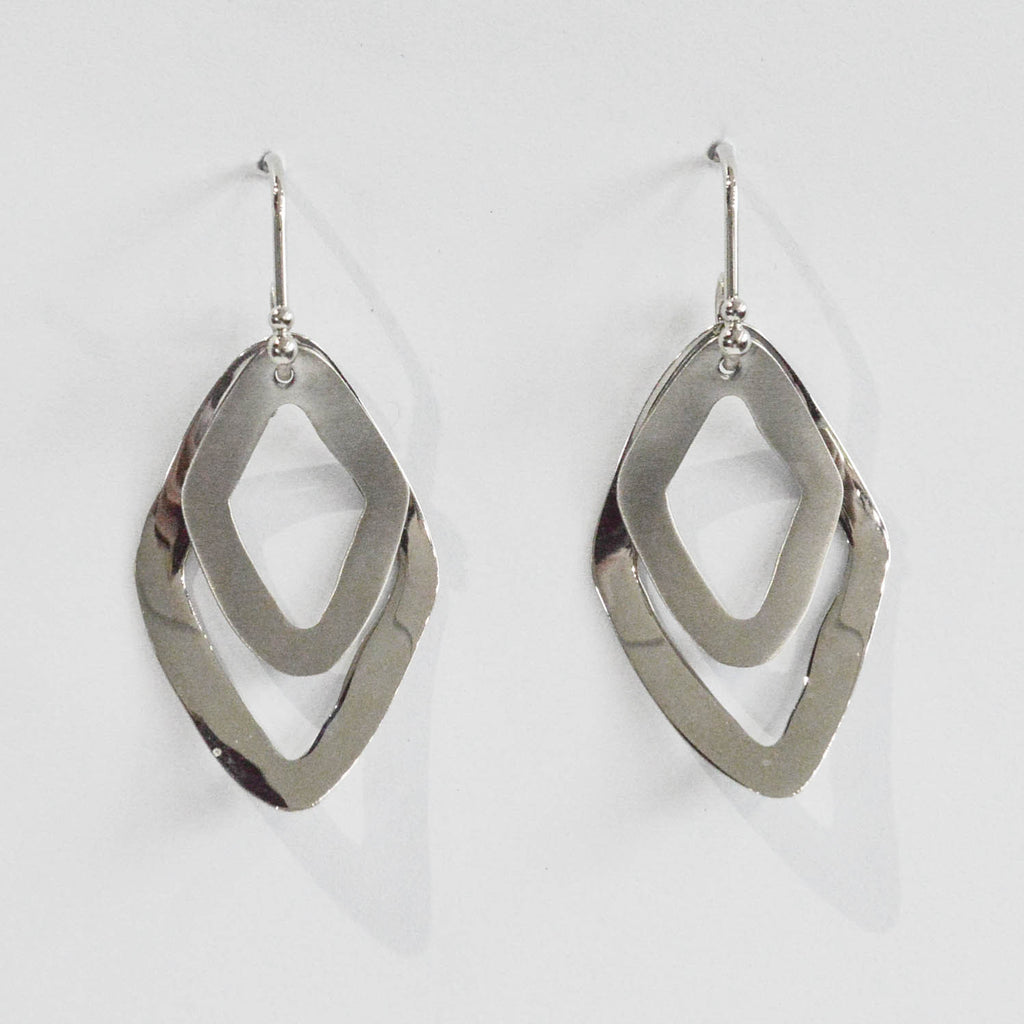 Double Diamond Shape Earrings - Kristoff Jewelers
