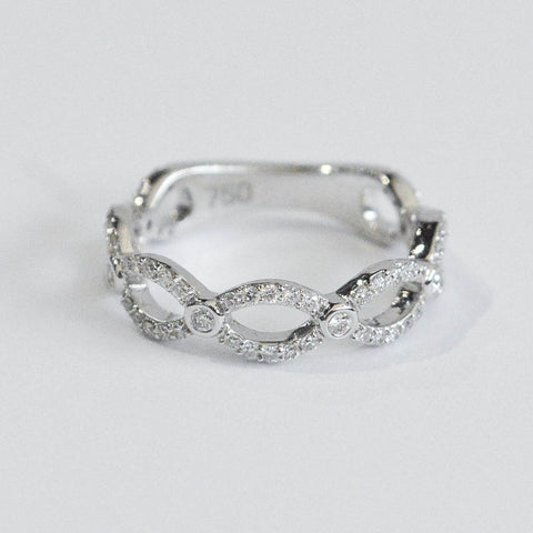 Delicate Woven Diamond Band