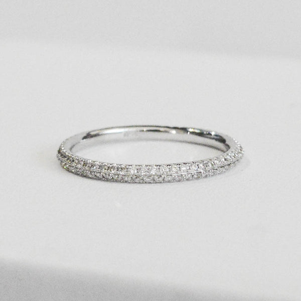 Delicate Diamond Stackable Band - Kristoff Jewelers