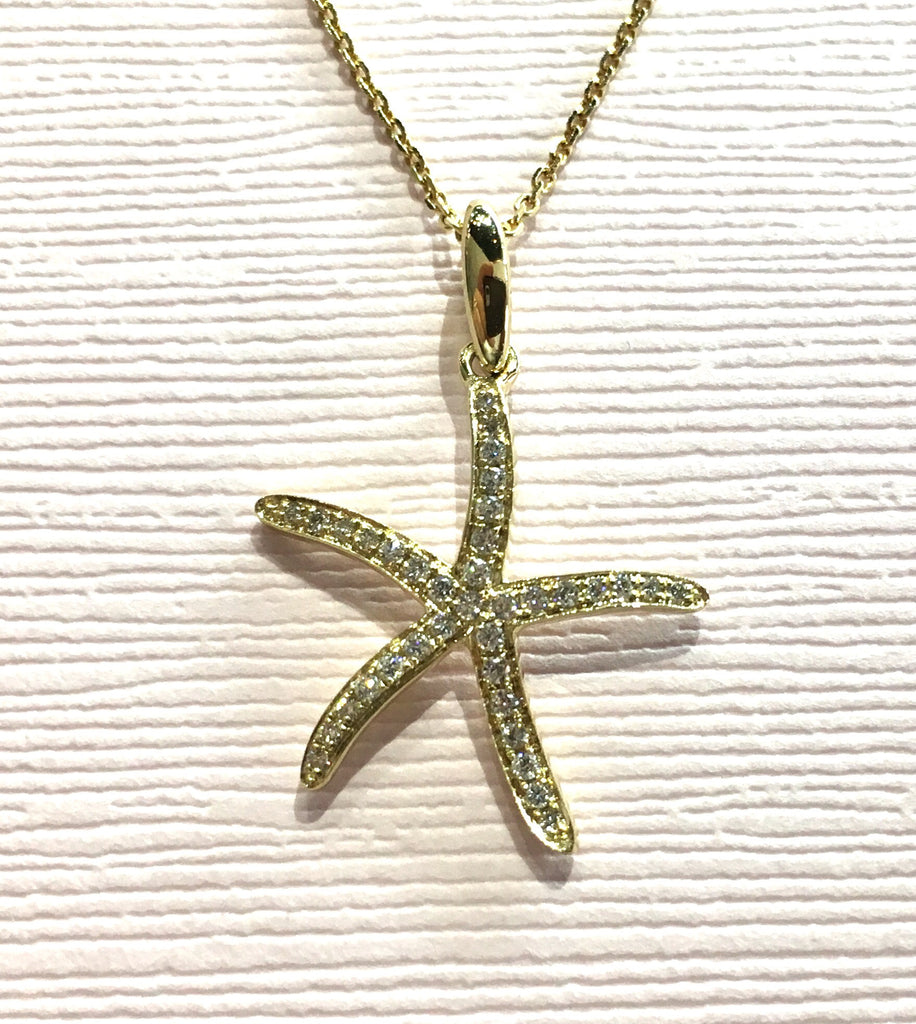 Diamond Starfish Necklace - Kristoff Jewelers