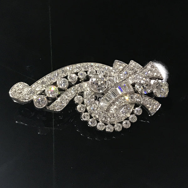 Vintage Tiffany & Co. Platinum and Diamond Brooch