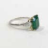 Emerald Cut Emerald and Diamond Ring - Kristoff Jewelers