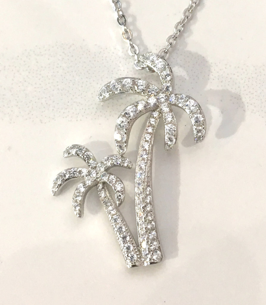 Twin Palm Tree Necklace