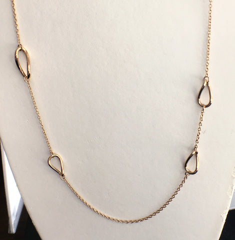 Twisted Ovals Long Necklace