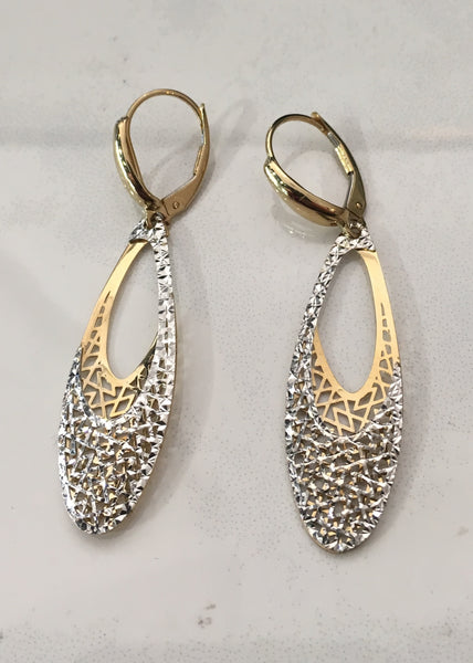Italian Diamond Cut Earrings