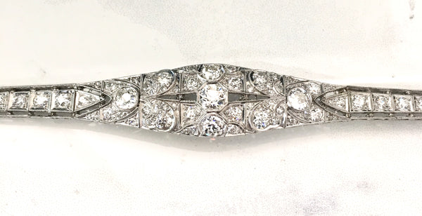 Vintage Filigree Diamond Bracelet