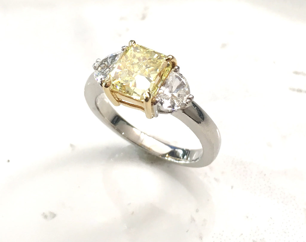 Fancy Instense Yellow Diamond Ring
