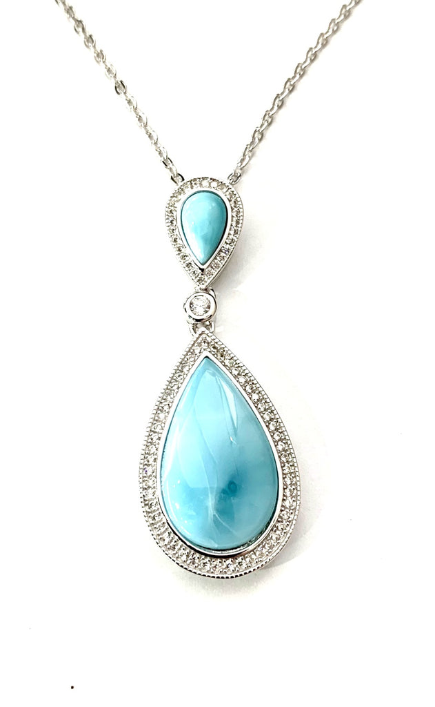 Pear Shaped Larimar Necklace
