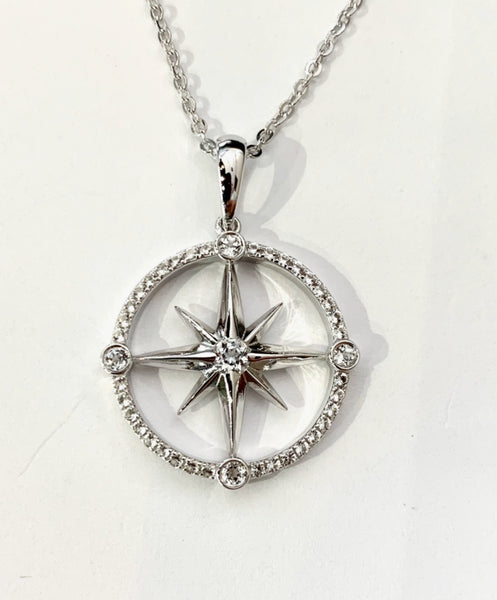 Nautical Compass Rose Necklace