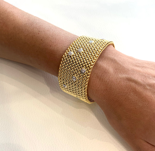 Wide Diamond Bracelet