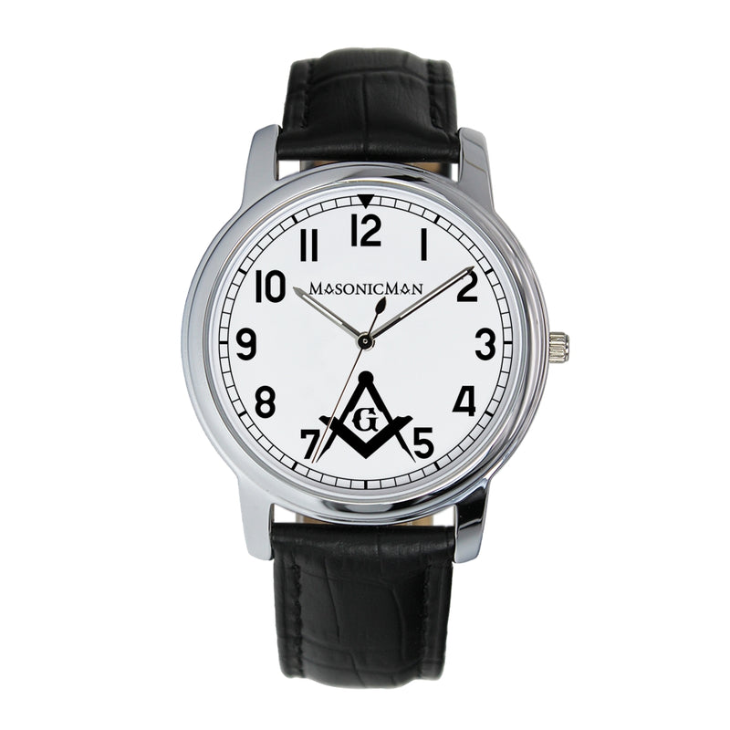 Masonic Square and Compass 38mm Wrist Watch (2 Colors)