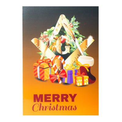 "MasonicMan Christmas Card - Pack of 10 Assorted Cards - 8"" x 6"
