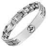 MasonicMan Men's Titanium Magnetic Masonic Bracelet - Reversible