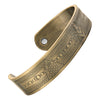 MasonicMan Engraved Pure Copper Bracelet - Antique Gold Finish