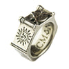 Made In England Pewter Masonic Ring - 6 Sided