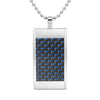 MasonicMan Reversible Blue Carbon Fiber Pendant