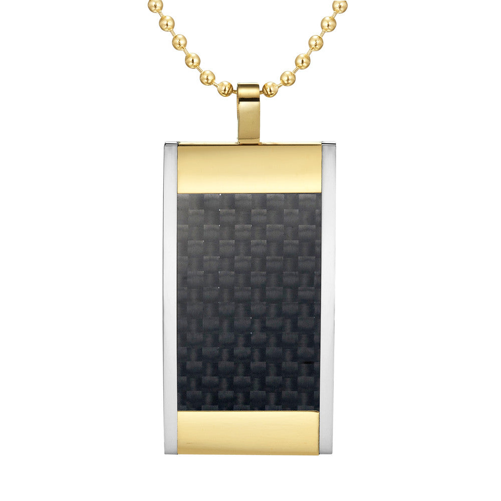 MasonicMan Reversible Black Carbon Fiber Pendant