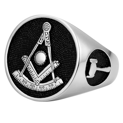 MasonicMan Past Master Stainless Steel Ring