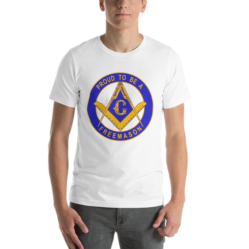 MasonicMan Proud to Be a Masonic White T Shirt