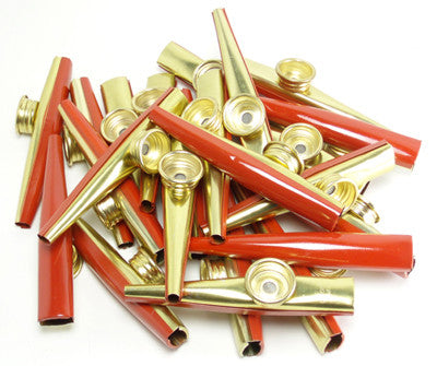 Metal Kazoo (Bag of 25) RED