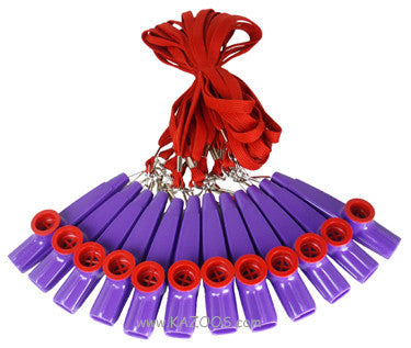 Red and Purple Lanyard Kazoo - Bag of 12