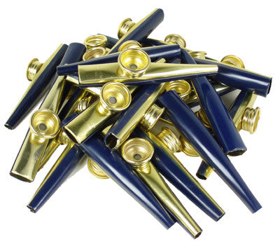 Metal Kazoos (Bag of 25) BLUE