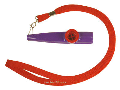 Red and Purple Lanyard Kazoo