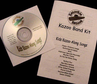 Kazoo Band Music CD & Booklet (Out Of Stock)