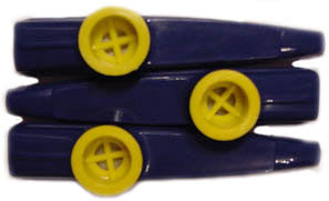 Navy Blue and Yellow Kazoos (Bag of 25)