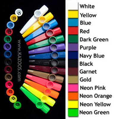Custom Color Kazoos With No Imprint (Units of 100)