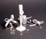 Wedding White Bugle Bell<br>(Bag of 25)