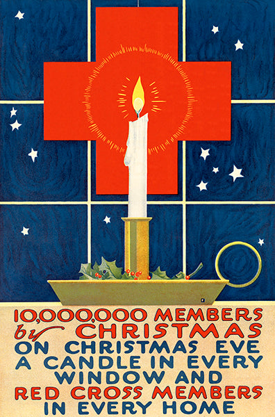 10,000,000 Members By Christmas - 1918 - World War I - Propaganda Poster
