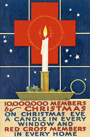 10,000,000 Members By Christmas - 1918 - World War I - Propaganda Poster Magnet