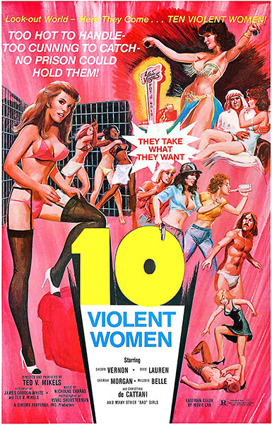 10 Violent Women - 1982 - Movie Poster