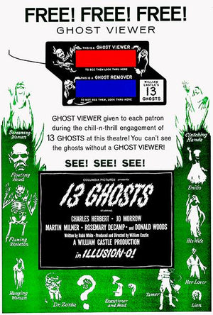 13 Ghosts #2 - 1960 - Movie Poster Magnet