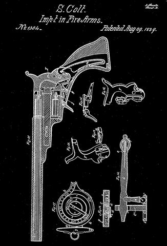 1839 - Fire Arms - S. Colt - Patent Art Poster
