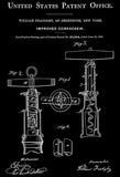 1862 - Corkscrew - W. Fradgley - Patent Art Poster