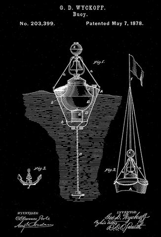 1878 - Buoy - G. D. Wyckoff - Patent Art Poster
