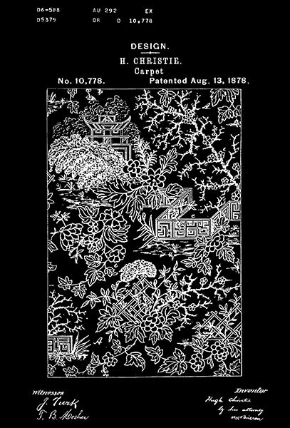 1878 - Carpet Design - H. Christie - Patent Art Poster