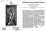 1879 - Statue of Liberty - Enlightening The World - New York - A. Bartholdi - Patent Art Mug